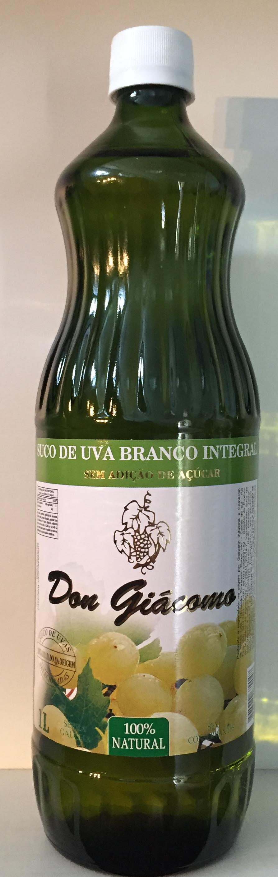 SUCO DE UVA BRANCO INTEGRAL 1 LT