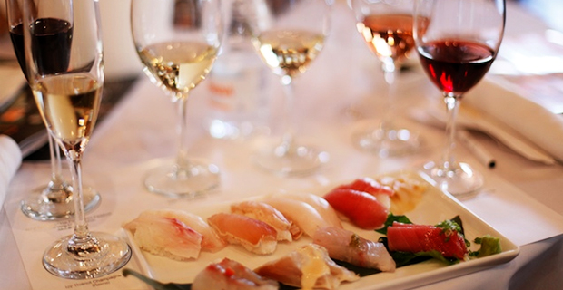 Culinária japonesa e vinho…